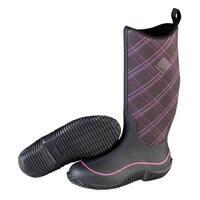 Muck Boot's HALE PRINT BLACK/PURPLE PLAID Boots - Size 10