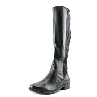 Rampage Indie Women  Round Toe Synthetic Black Knee High Boot
