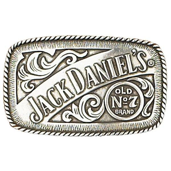 Jack Daniel's Silver Tone Belt Buckle - One size