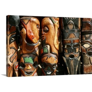 """African wooden-craft carvings, Mpumalanga Province, South Africa"" Canvas Wall Art"