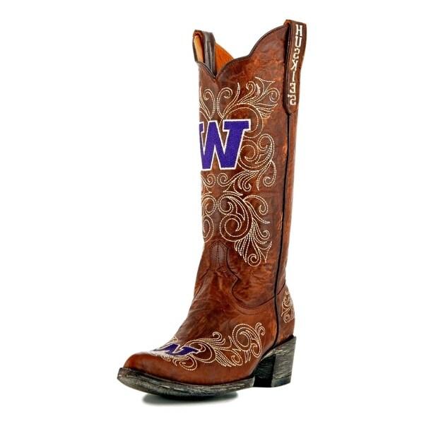 Gameday Boots Womens College Team Washington Huskies Brass