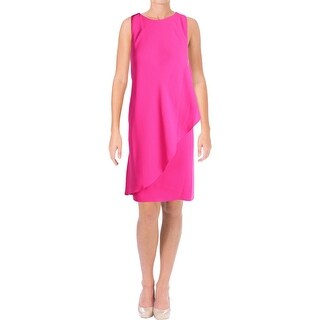 Lauren Ralph Lauren Womens Vadrata Wear to Work Dress Crepe Layered