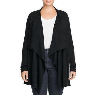 Eileen Fisher Womens Plus Cardigan Top Draped Open Front