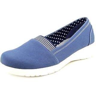 Beacon Jamie Gored Women N/S Round Toe Canvas Blue Loafer