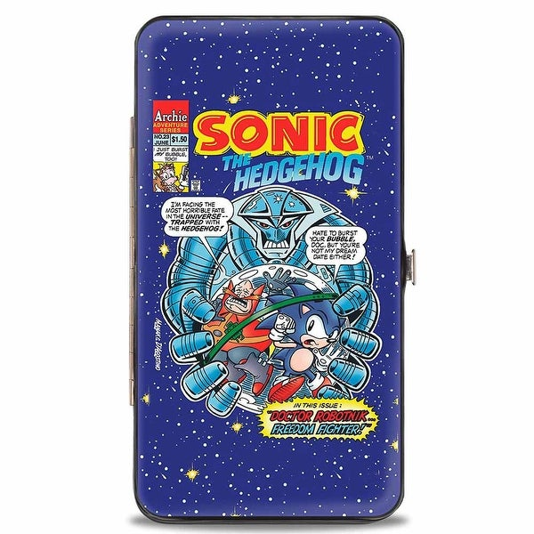 Sonic Comic Sonic Comic #23 Dr. Robotnik...Freedom Fighter! Hinged Wallet - One Size Fits most