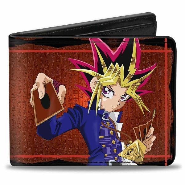 Yugi Pose + Yu Gi Oh! Hieroglyphics Reds Bi Fold Wallet - One Size Fits most