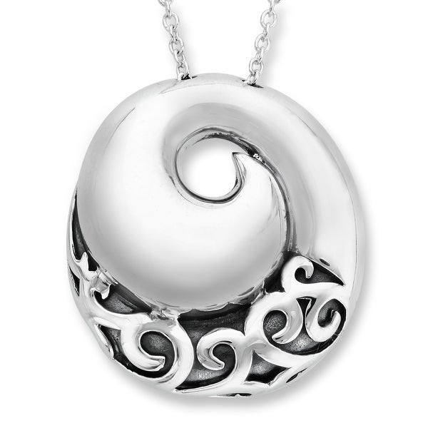 Evert DeGraeve Spiral Pendant in Sterling Silver - White