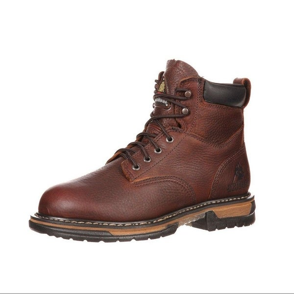"Rocky Work Boots Mens 6"" Ironclad ST Waterproof Brown"