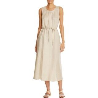 Finity Womens Casual Dress Linen Pleated