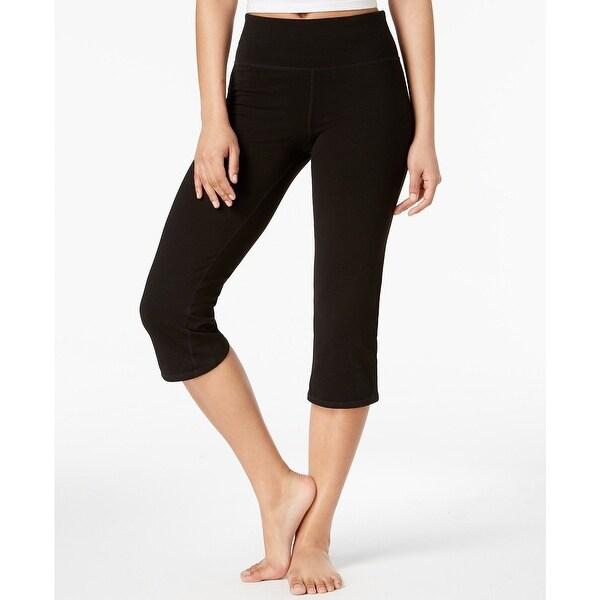 47f107d3e3c6e Shop Ideology Women's Cropped Yoga Pants Classic Black Size Large ...