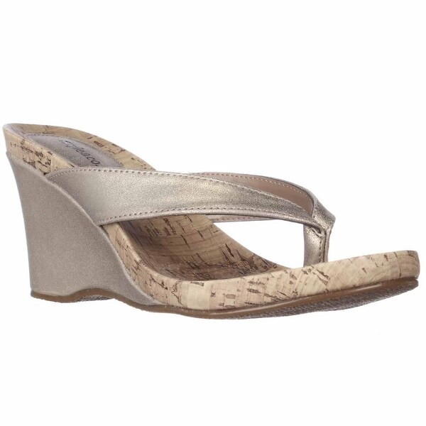 cbe548da1ccc7 Shop SC35 Chicklet Wedge Thong Sandals