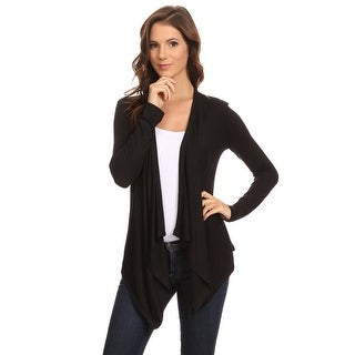Women's Long Sleeve Open Front Short Cardigan Small to 3XL Made in USA