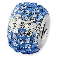 Sterling Silver Reflections Blue Graduated Crystal Bead