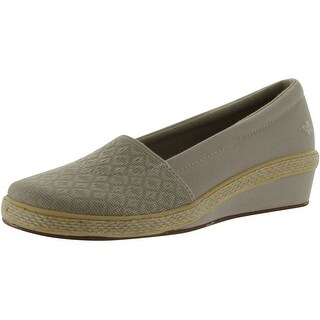 Grasshoppers Women's Riviere Wedge Loafer - stone - 6.5 b(m) us
