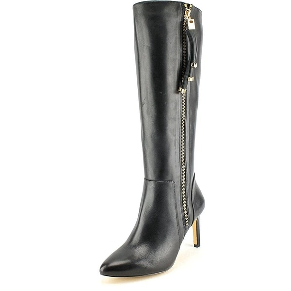 INC International Concepts Women's Libbi Wide Calf Leather Knee High Boot