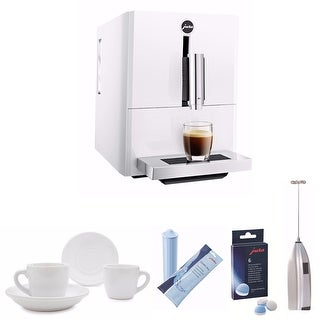 Jura A1 Ultra Compact Coffee Center with P.E.P. (White) with Accessories Bundle