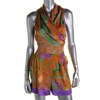 Catherine Malandrino Womens Silk Chiffon Romper - 4