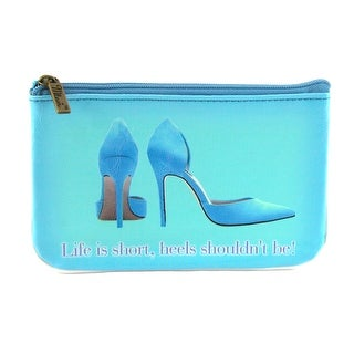 Mlavi Women's Life is Short Heels Shouldn't Be Coin Purse Wallet - Blue - One size