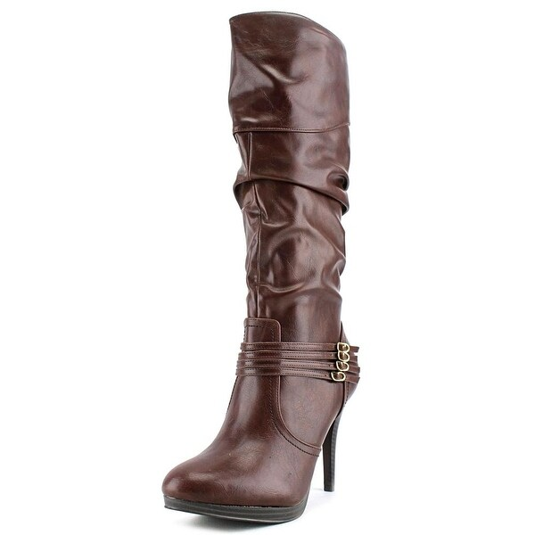 Style & Co Lindie Women Round Toe Synthetic Brown Knee High Boot