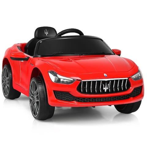 Costway 12V Maserati Licensed Kids Ride on Car w/ RC Remote Control