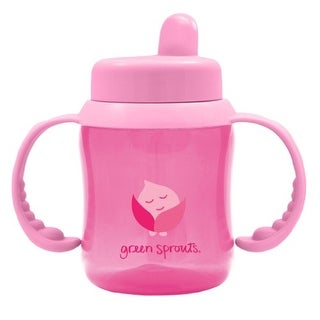 green sprouts Non-Spill Sippy Cup, Pink, 6 Ounce