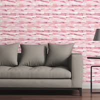 "Circle Art Group Removable Wallpaper Tile - Bars Pink - 24"" x 48"""