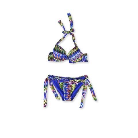 Becca Womens Tanzania Underwire Side Tie 2 Piece Bikini