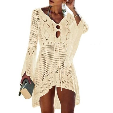 Women's Summer Beach Coverups Bikini Swimsuit Crochet Cover Ups Net 420166 - one size