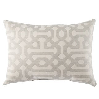 Brown white trellis throw pillow cover