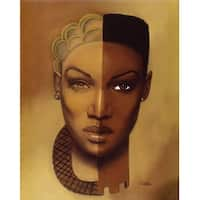 ''Timeless (Female)'' by Laurie Cooper African American Art Print (20 x 14 in.)