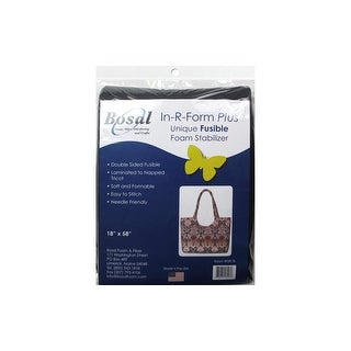 "Bosal In R Form Plus Fusible Dbl Side 18x58"" Blk"
