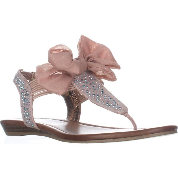 MG35 Swan1 Bow Detail Slingback Sandals, Blush