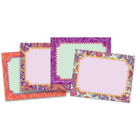 "Positively Paisley Name Tags, 2 7/8"" X 2 1/4"", 40 Per Pack, 6 Packs - One Size"