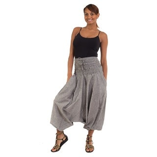 100% Cotton Wide Waist Boho Harem Yoga Baggy Pants