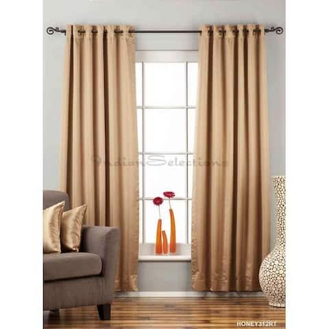 Taupe Ring / Grommet Top blackout Curtain / Drape / Panel - Piece