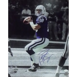 Peyton Manning Autographed Indianapolis Colts 16x20 Sephia Blue JSA
