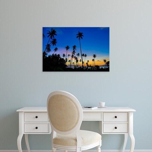 Easy Art Prints Douglas Peebles's 'Sunset In Fiji' Premium Canvas Art