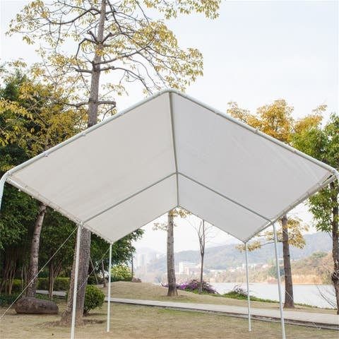 3x6 Carport Car Canopy Versatile Shelter Car Shed with 6 Foot Tubes