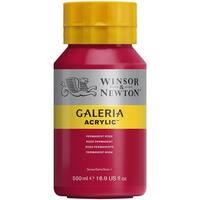 Winsor & Newton - Galeria Acrylic - 500ml Squeeze Bottle - Permanent Rose