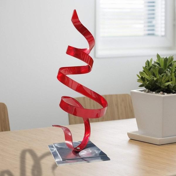 Statements2000 Metal Art Accent Sculpture Centerpiece by Jon Allen - Red Whisper