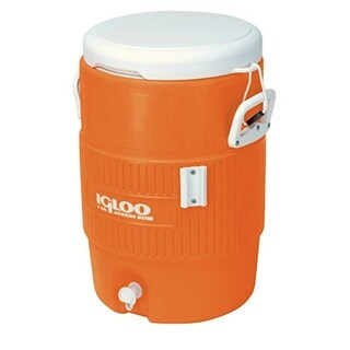 Igloo 42316 Seat Top Water Jug with Handles, Orange, 5 Gallons