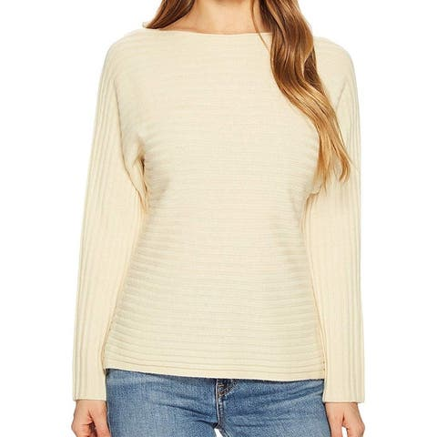 Vince Womens Sweater Yellow Size Large L Tie-Back Cut-Out Dolman