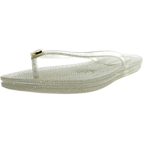 Tommy Hilfiger Girly-X Women Open Toe Synthetic Silver Flip Flop Sandal