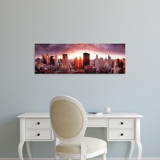 Easy Art Prints Panoramic Images's 'Sunset River View Chicago IL' Premium Canvas Art
