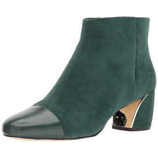 Nine West Womens Joannie Leather Closed Toe Ankle Fashion Boots
