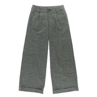 Free People Womens Herringbone Cuffed Dress Pants - 2