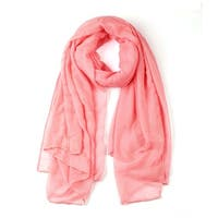 Soft Lightweight Long Scarves With Solid Color Shawl For Women Men Pale Pink-2