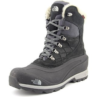 The North Face Chilkat 400 Women  Round Toe Leather Black Snow Boot