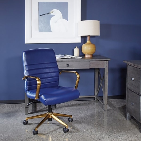 Baldwin Mid-Back Faux Leather Chair. Opens flyout.