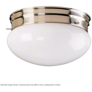 Quorum International Q3015-6 1 Light Flushmount Ceiling Fixture with Frosted Glass Shade